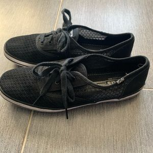 Keds tennis shoes black womens size 9